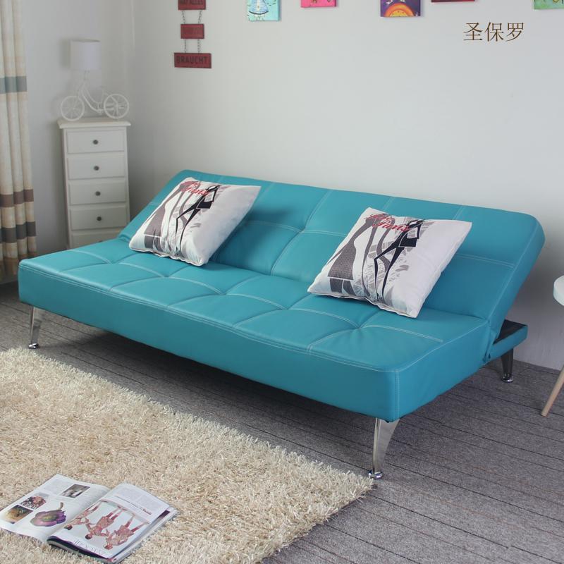 皮艺多功能可折叠沙发床1.8米客厅卧室办公休闲双人多人简约沙发