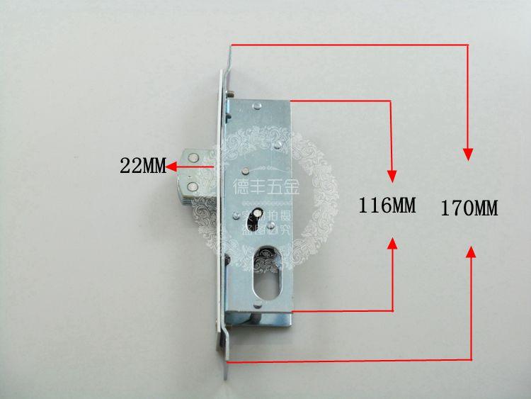 заключи вратата на мико от алуминиеви сплави, на вратата има ключалка на вратата заключена кутия двойно стъкло