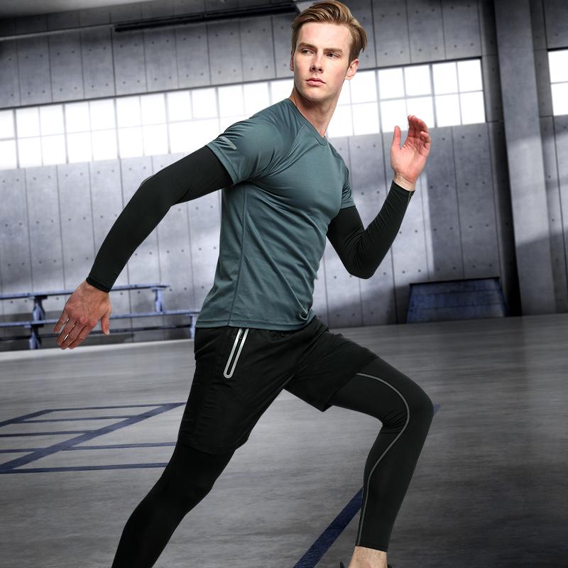 Herbst - Winter - Männer - sport - Gymnasium strumpfhosen vier Stück jogging - anzüge Schnell trocken sitzende Morgen laufen die Ausbildung.