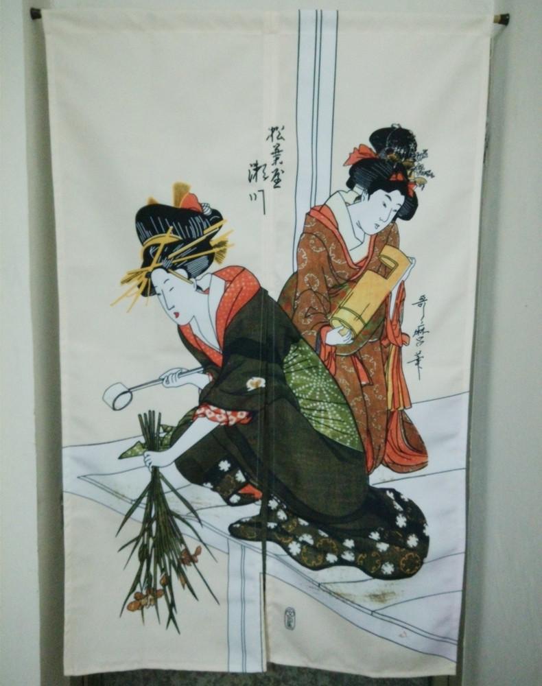 Κυρίες είναι γιαπωνέζικο κουζίνα κουρτίνα κορεάτικα διακοσμητικά κουρτίνες για μισό κουρτίνα συν 8 σαν κουρτίνα.