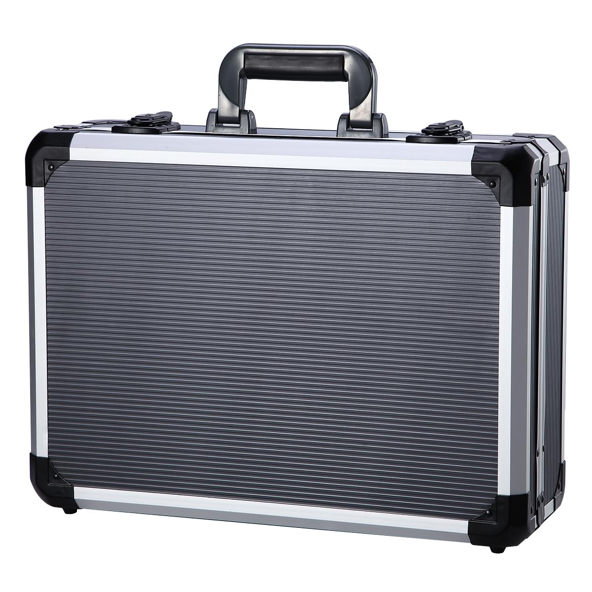 Aleaciones de aluminio de la Caja de herramientas herramientas de mantenimiento a bordo de una caja con cerradura multifunción maleta vacía con Correa