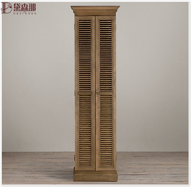 American style rural real wood shoe cabinet door hall cabinets door French style old oak receiving cabinet villa furniture high cabinet