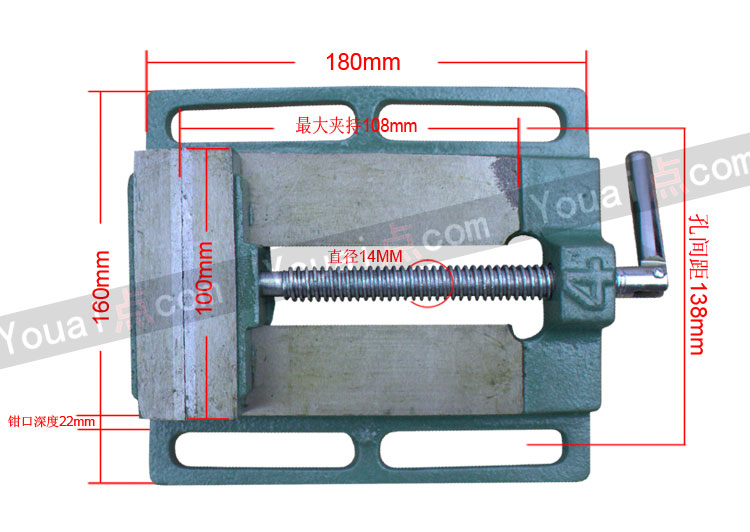 A small table vise vise clamp screw clamp to send simple Mini package post vise woodworking machine