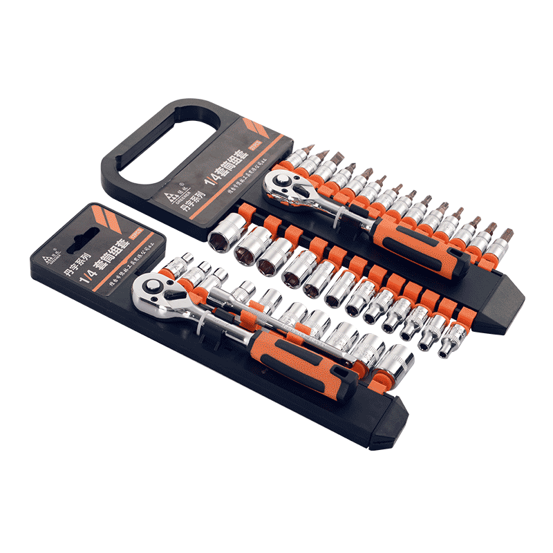 Vehicle 1/4/2 fast ratchet spanner wrench and auto repair boats combined hardware tool kit set