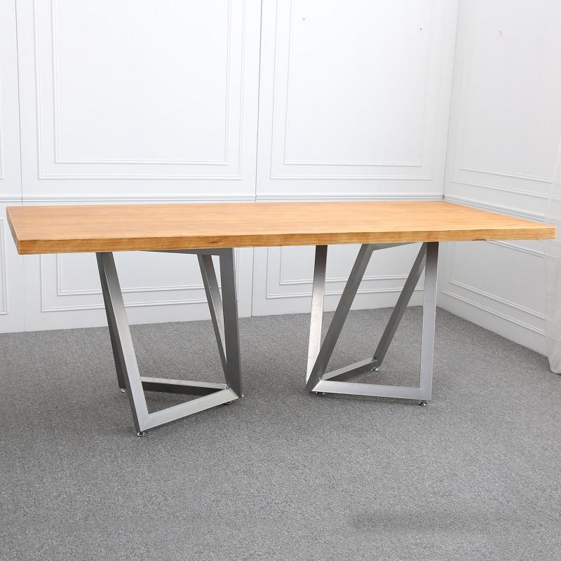 Table de bureau moderne de création de table de conférence de bureau en bois de meubles de bureau de l'ordinateur de bureau en bois de patron de fer