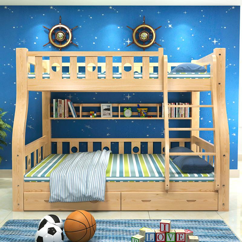 деревянные двухъярусные кровати детей спать в постели уровень материнской кровати на двухъярусной кровати прилавок мать всего сосновой мебели на заказ