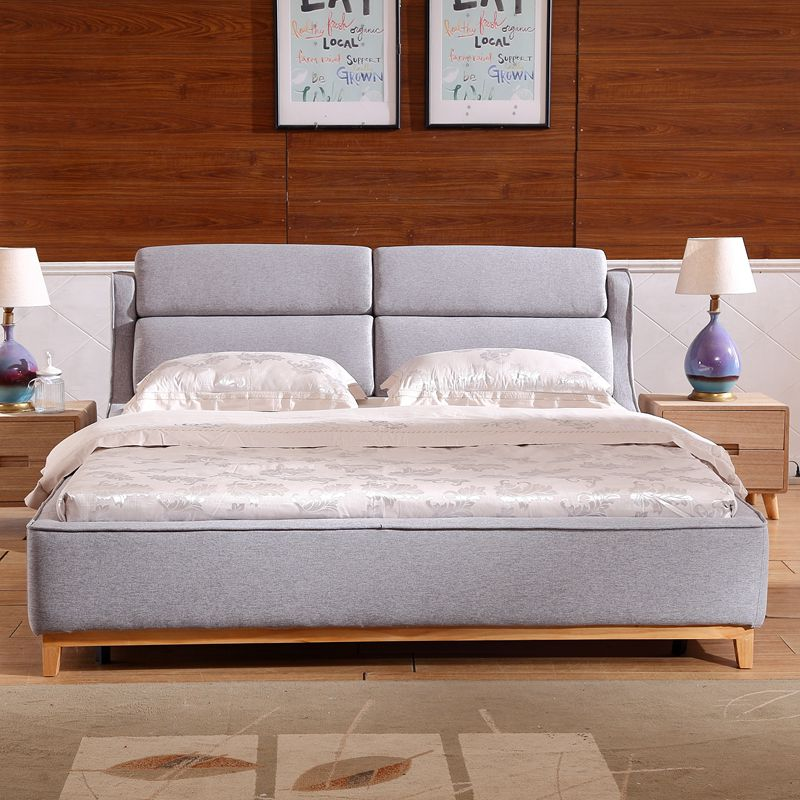 The Nordic modern minimalist beauty adorable washable fabric bed 1.51.8 meters double bed large-sized apartment bed