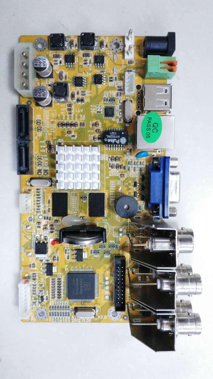 Uusi 4-kanavainen 8-kanava analoginen lauta DVR piirilevy H.264DVR paljas aluksella piirilevy ei kauko