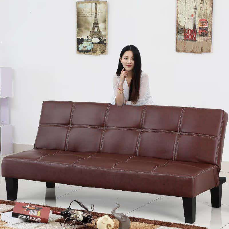 多くの機能は折りたたみ式のベッドの皮の藝ベッドの皮の藝は現代的な小さい部屋の客間の布製のソファーの3人のソファー