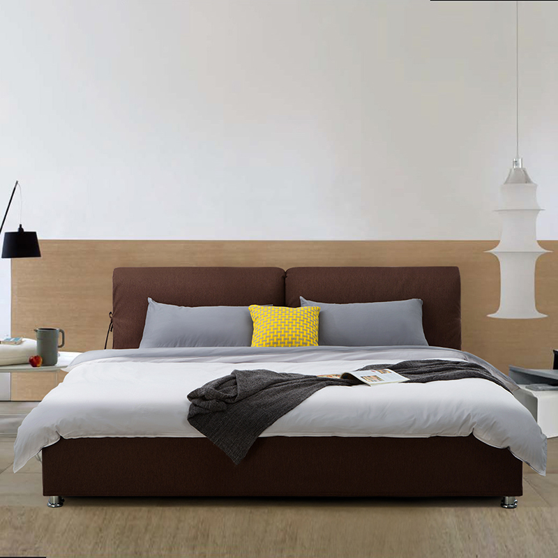 Modern minimalist Scandinavian style washable fabric bed double bed roolls large-sized apartment bedroom bed 1.8