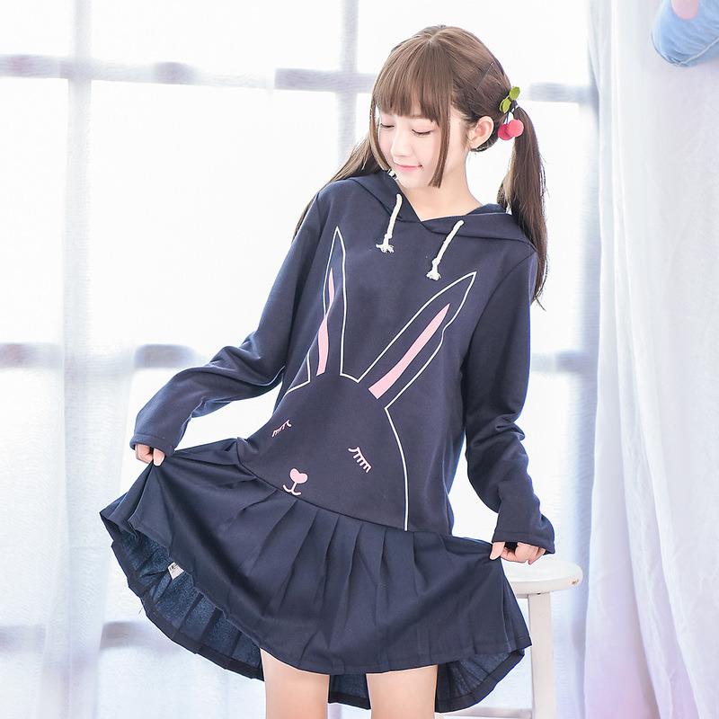 Váy dáng xòe họa tiết in hoa chất mềm mại phong cách Nhật Bản kiểu dáng dễ thương
