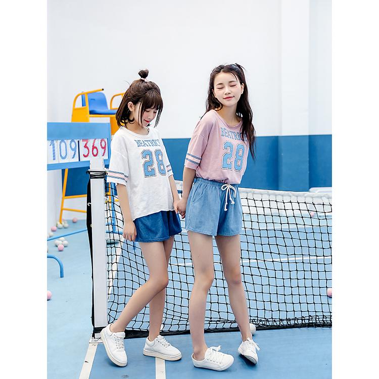 Quần bò/Quần nữ loại mỏng chun eo thụng thời trang phong cách thể thao năng động mẫu mới nhất
