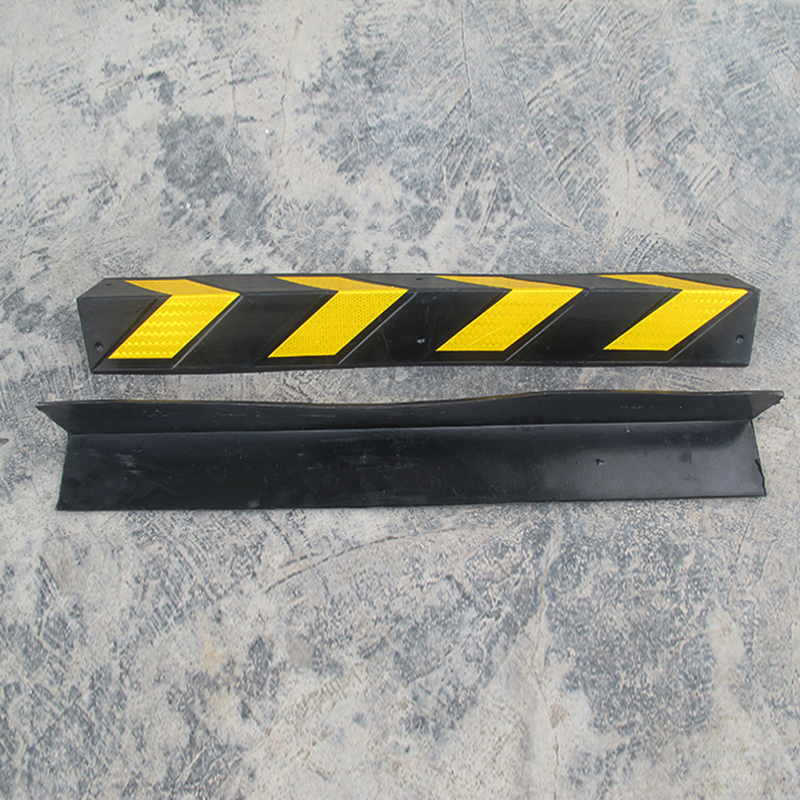 The road Knights 1 meters long rubber corner reflective retaining wall protection a parking lot retaining wall bar 8mm