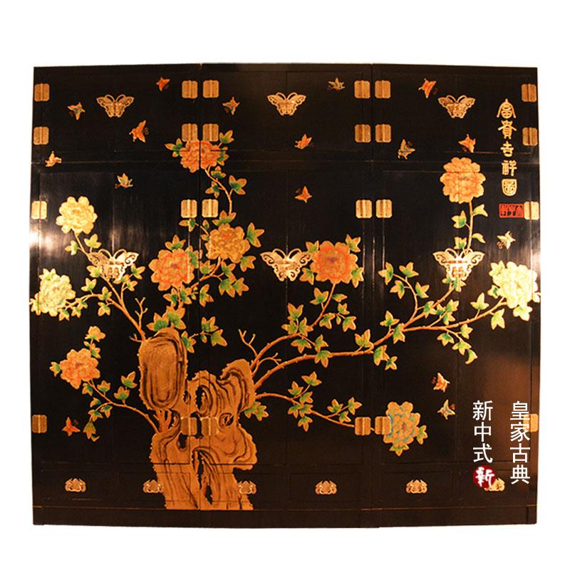 Armoire de la boîte en bois classique entre Elm camphre de mobilier de la Chambre de peinture personnalisée garde - robe - capuchon principal Chinois peints à la main