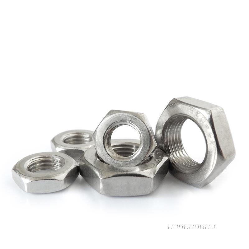 , dig treasure, online shopping, shop, 304 stainless steel, six angle thin tooth thin nut M4M5M6M8*0.5x0.75M10M12M14M16*1x1.25.