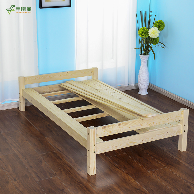 Solid wood bed, pine bed, baby bed, bed widening, extended single bed, double bed bed, custom made bed guard strip for children