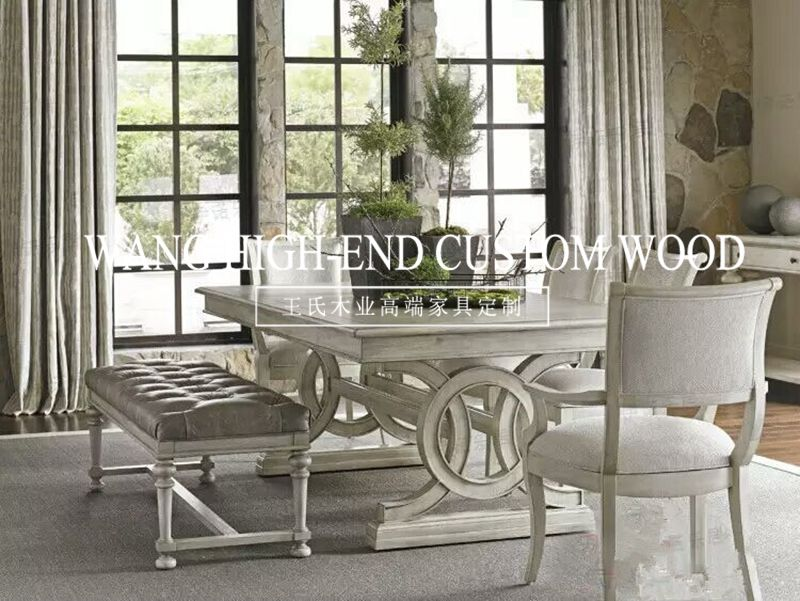 American bed, all solid wood double bed, 1.8 meters white wedding bed, princess bed, Oak 2 meters, cloth soft backing bed spot