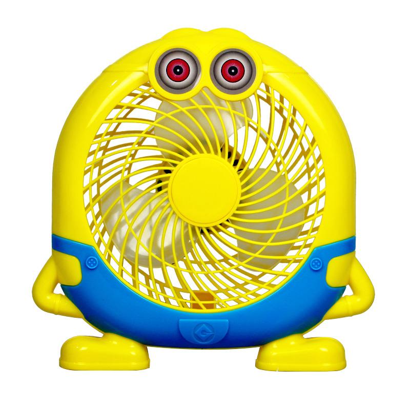 настольный вентилятор мини - usb офис общежитии кровати небольшой вентилятор Mute мультфильм маленький желтый человек электрический вентилятор