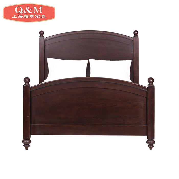 American style bed 1.8 meters, solid wood 1.5 meters double oak, new classical solid wood wedding bed, retro simple double bed