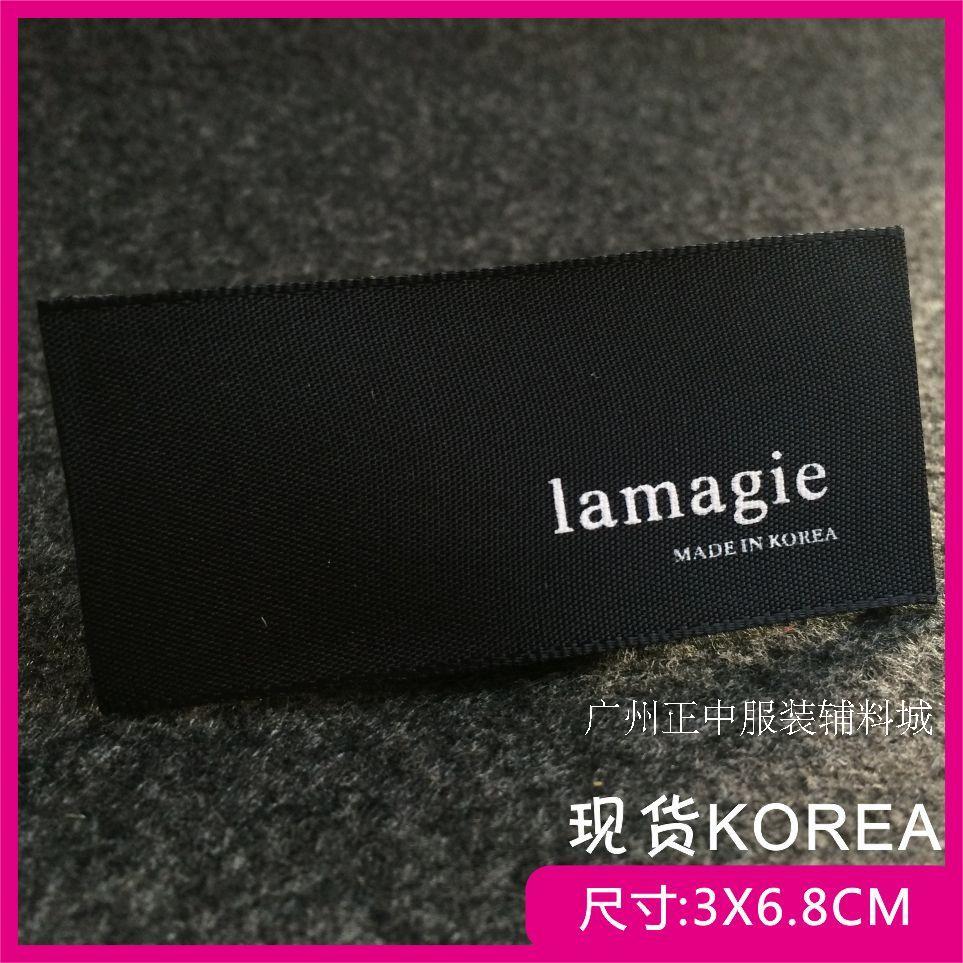 現物韓版韓国製した標的を標的主麦服装商標牌弔粒無料設計