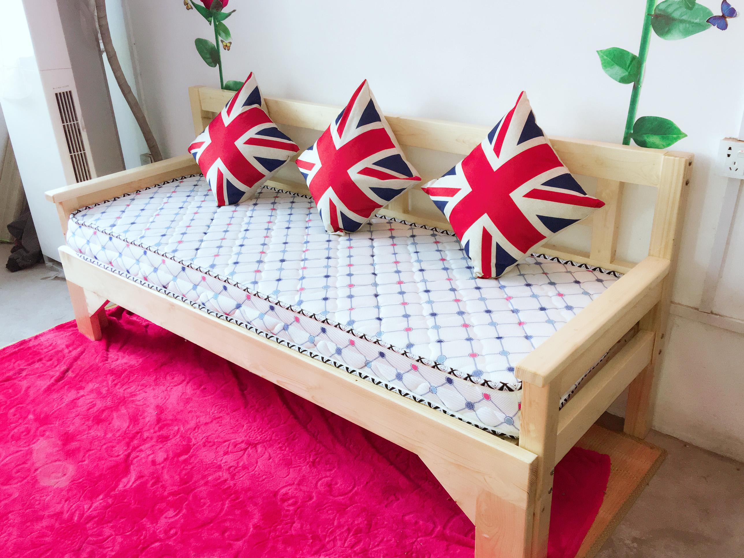 σπρώξε τον καναπέ - κρεβάτι συνδυασμό ξύλο 1,2 μέτρα 1,5 μέτρα άντλησης άνοιγµα ανακληνώμενα πτυσσόμενο κρεβάτι πτυσσόμενο κρεβάτι 1,8
