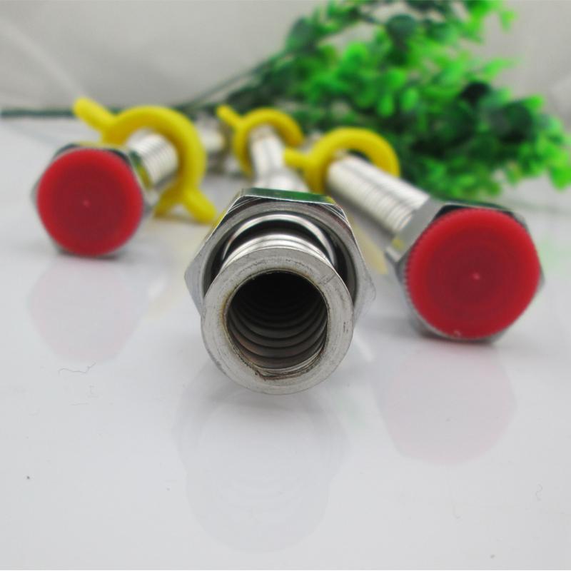 El tubo de acero inoxidable de fuelles de calentador de agua del lavabo del tubo de entrada de manguera de agua fría y caliente 304
