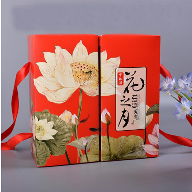 De doos draagbare met de familie het Chinese Rode festival van één vierkante papieren zakken bij vak lege doos