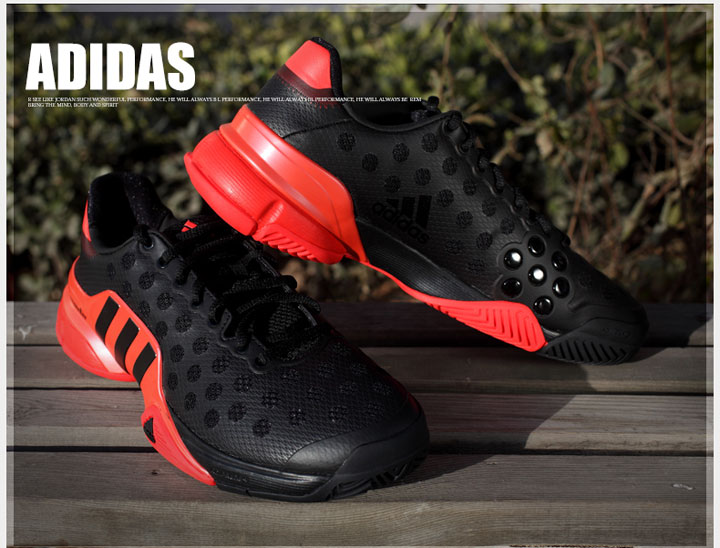 adidas barricade black and red