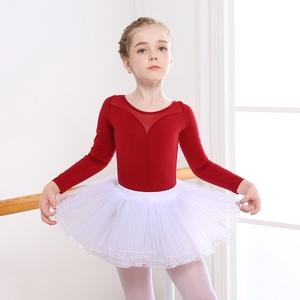 舞蹈服儿童练功服春秋考级服体操服幼儿芭蕾舞长袖纯棉女童舞蹈衣
