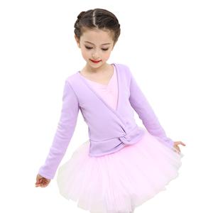 儿童舞蹈服披肩外套上衣少儿毛衣练功服芭蕾舞长袖幼儿纯棉舞蹈服