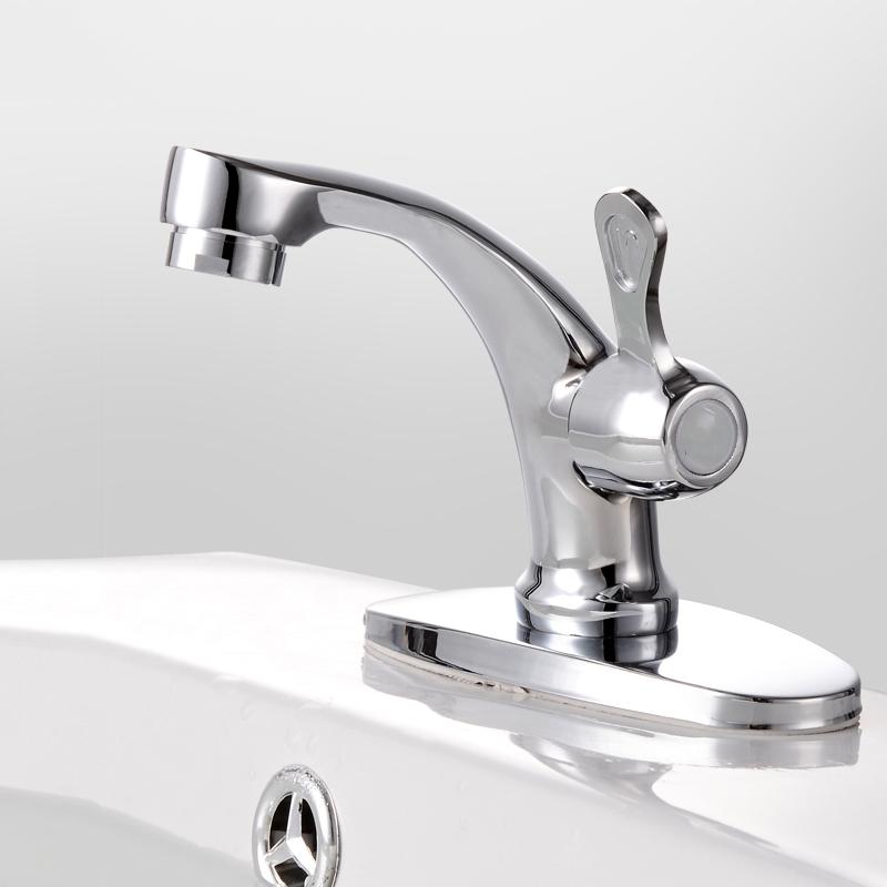 Basin faucet hand washing basin ceramic wash sieve basin pool single hole faucet copper ceramic core