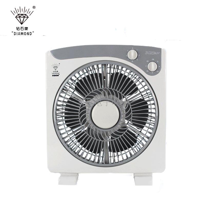 Ventilador de escritorio marca de diamantes auténticos casa oficina dormitorio silencioso ventilador industrial de 10 pulgadas de tipo 3