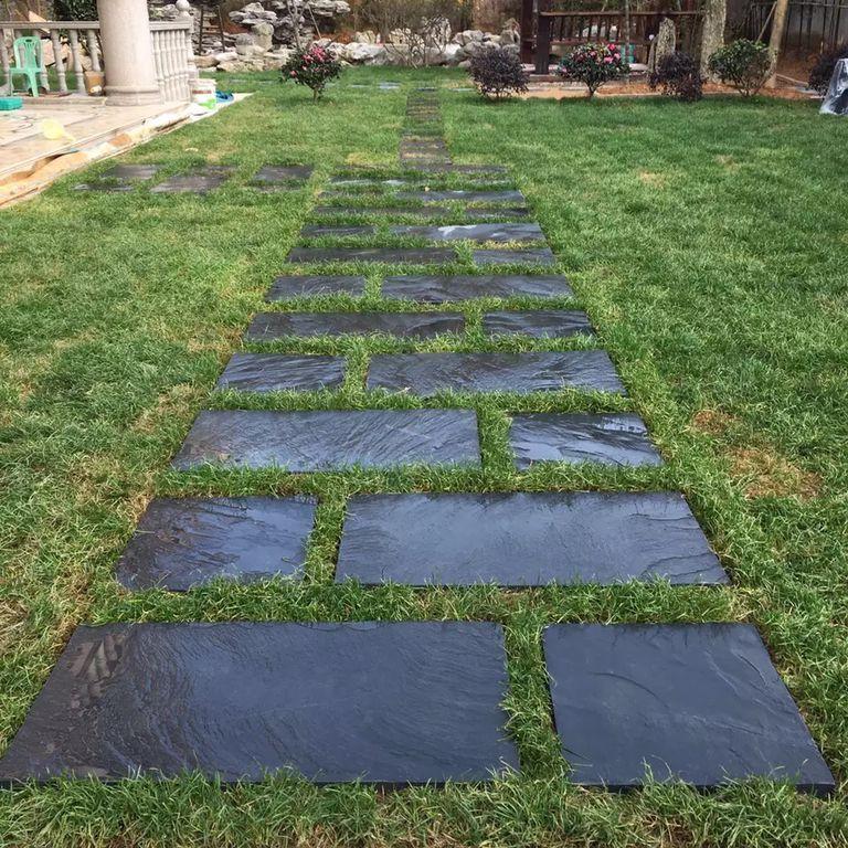 Tsing stone natural green stone slab villa garden treadle garden courtyard anti slide floor tile lawn paving stone