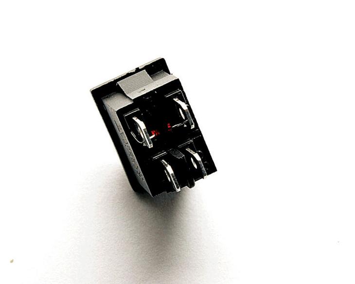 красный корпуса переключателя с огнем KCD1-1044 ноги 2 Файл Импорт из 6A/250V10 рокер силовой выключатель