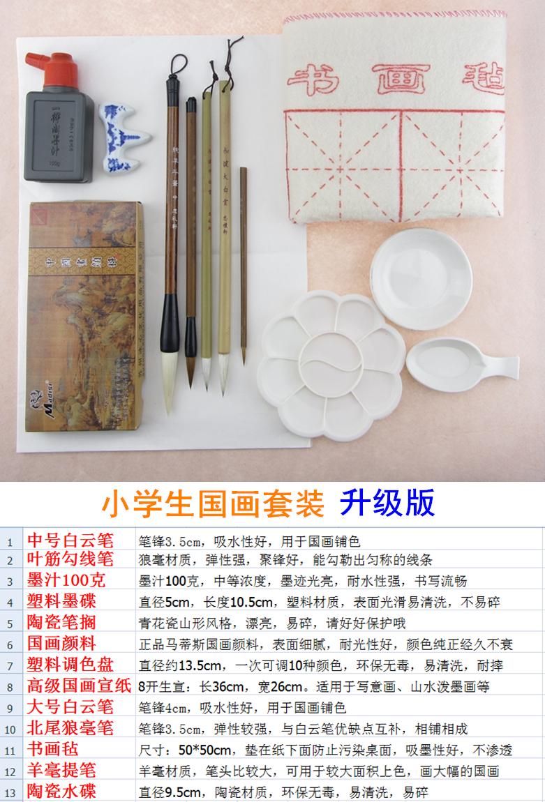 Per gli alunni di Pittura di entrata la cassetta attrezzi dipinto Quattro tesori dei dipinti di pigmenti