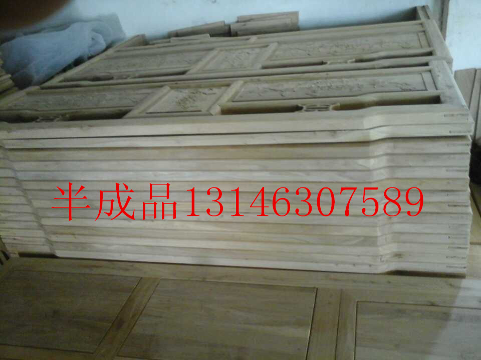 The old elm elm double bed 1.8 m carved wood bed imitation Ming elm furniture bedroom furniture
