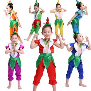 儿童葫芦娃演出服六一服装幼儿园卡通环保男女童成人葫芦娃表演服