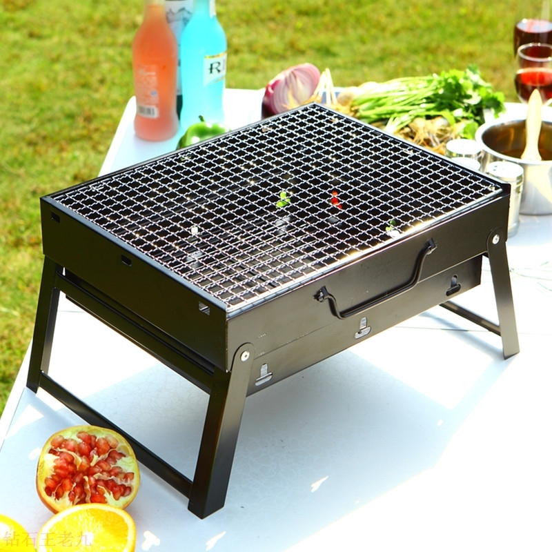 Thickened barbecue stove, portable charcoal grill, burning oven, steel plate, thick household 2.0MM, 50 cm high