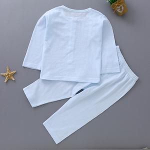 宝宝内衣纯棉超薄秋衣秋裤0-1岁婴儿空调服 薄款睡衣套装夏季