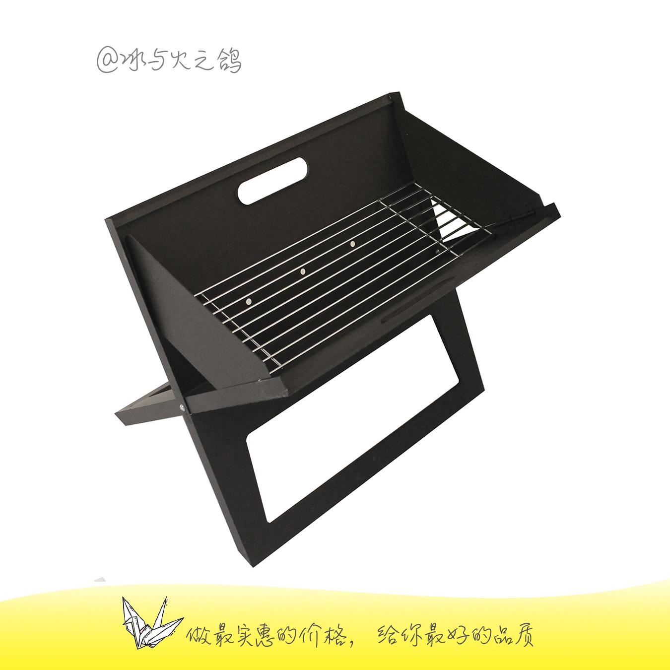 شواء شواء للطي في الهواء الطلق المحمولة المنزلية الجديدة البريد حزمة تصدير الفحم الشواء الساخنة جيدة