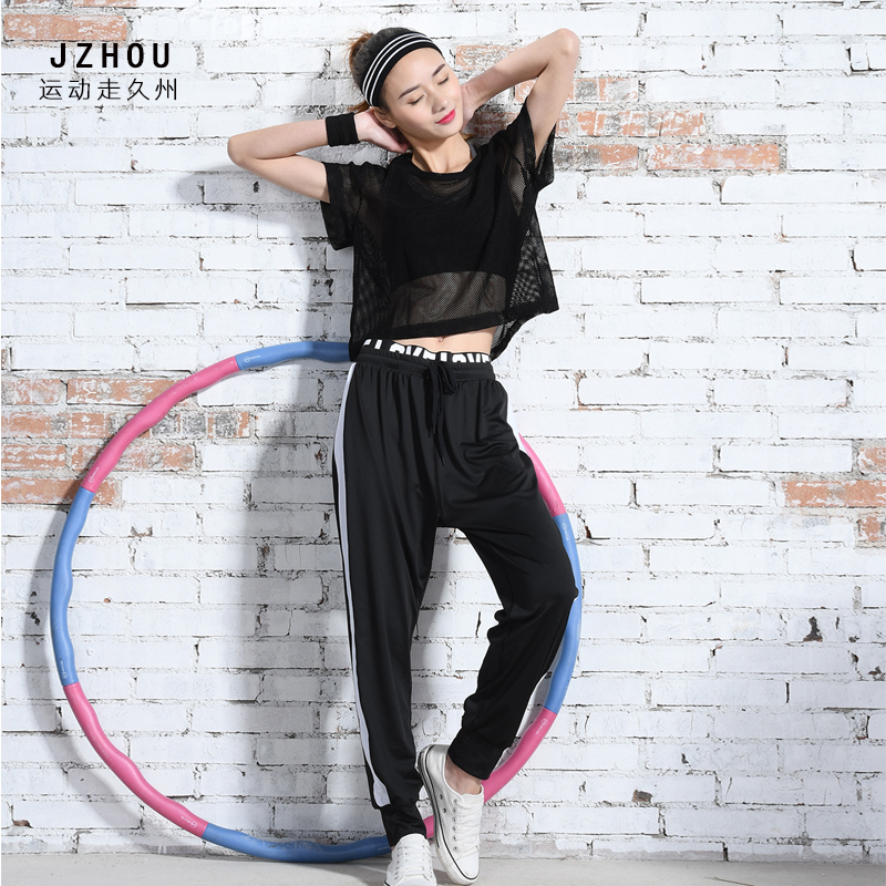 Spring and summer in the South Korean female gym yoga clothing sweater vest net mantles running seven pants suit three pieces