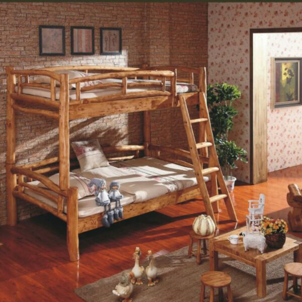 Logs, wood wax, paint free, off bed log style, children all cypress solid Muzi mother bed 1.2 meters