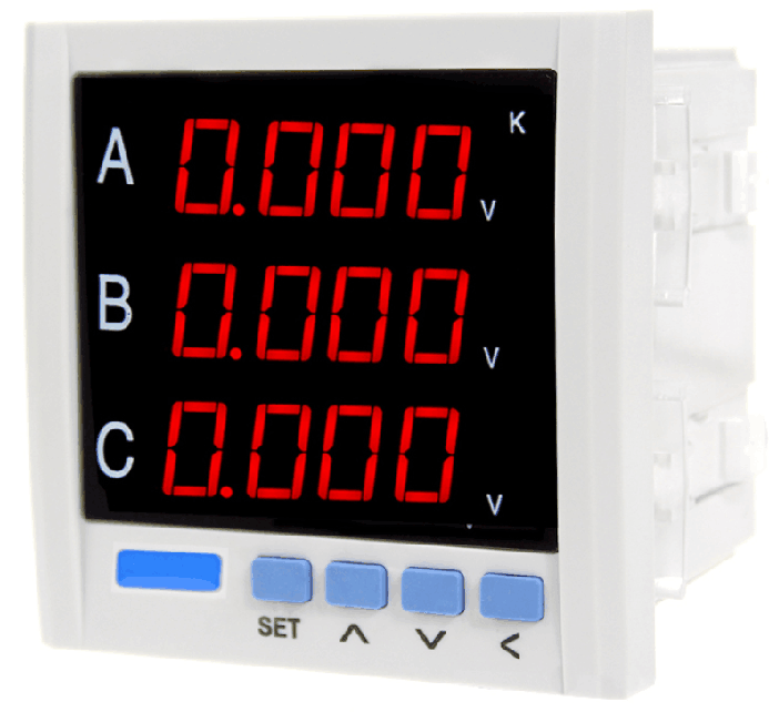 Voltmeter ammeter RS485 relay alarm 4-20mA converter output three phase communication