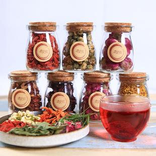 玫瑰花洛神茉莉大麦茶兰香子水果茶泡水6瓶大礼包组合花草茶礼品