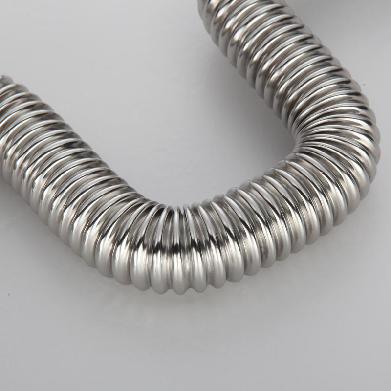 Nuevo 1 pulgada tubo corrugado de acero inoxidable 304 un tubo de entrada de agua fría y caliente - tuberías de metal.