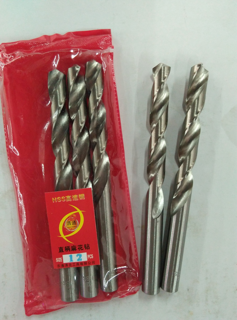 Straight round handle, high speed steel twist drill, sheet iron, stainless steel, aluminum plastic sheet, drill hole, drill rod fittings