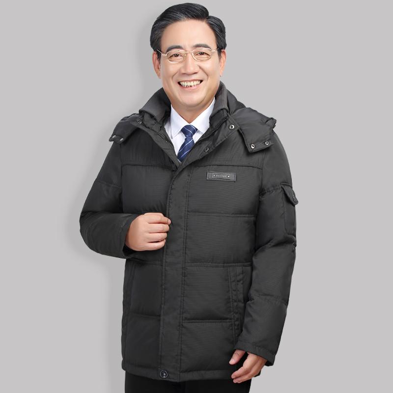 w 2017 r. nową kurtkę zimową w średnim wieku. ojciec długo u osób w podeszłym wieku, męskie ubrania.