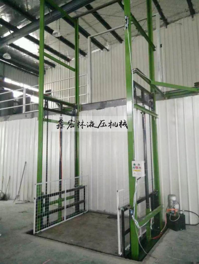 IL Barbone e semplice a doppio binario all'interno e all'esterno della piattaforma di sollevamento a doppio binario il trattamento personalizzato di tipo Fisso montacarichi idraulici