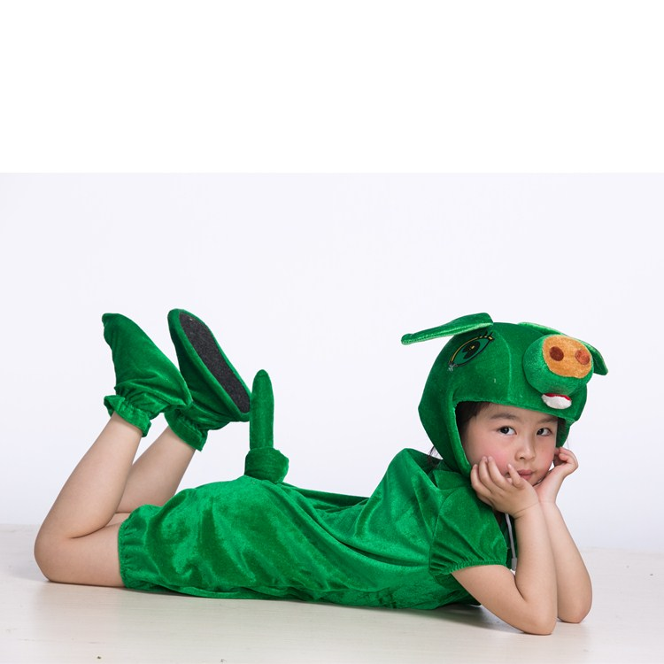 61 children pig, animal performance clothing, powder pig performance clothes, baby green pig, black pig brown pig stage costume