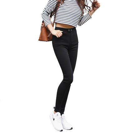 韩国lets diet魔术裤女薄款高腰打底裤外穿显瘦小脚let's2018新款